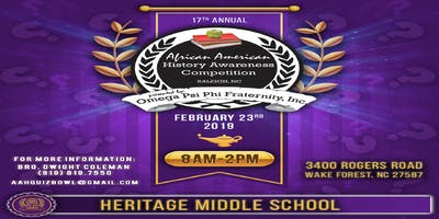 17th Annual African American History Awareness Com