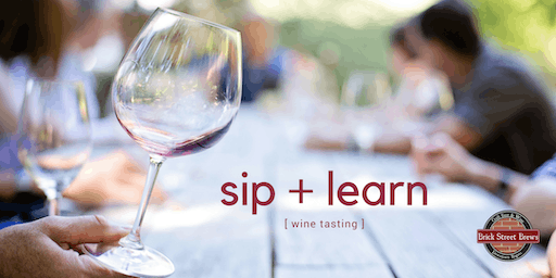 Sip + Learn Wine Tasting