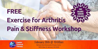 FREE Exercise for Arthritis Pain & Stiffness Workshop
