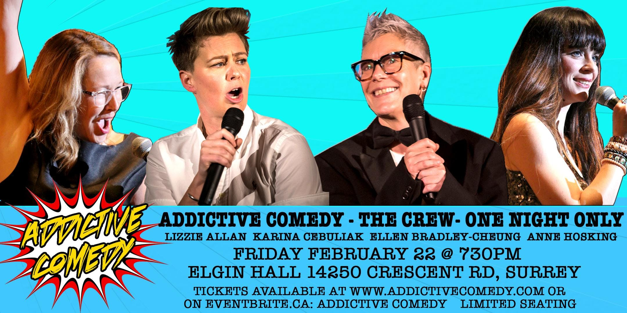 ADDICTIVE COMEDY -THE CREW- ONE NIGHT ONLY