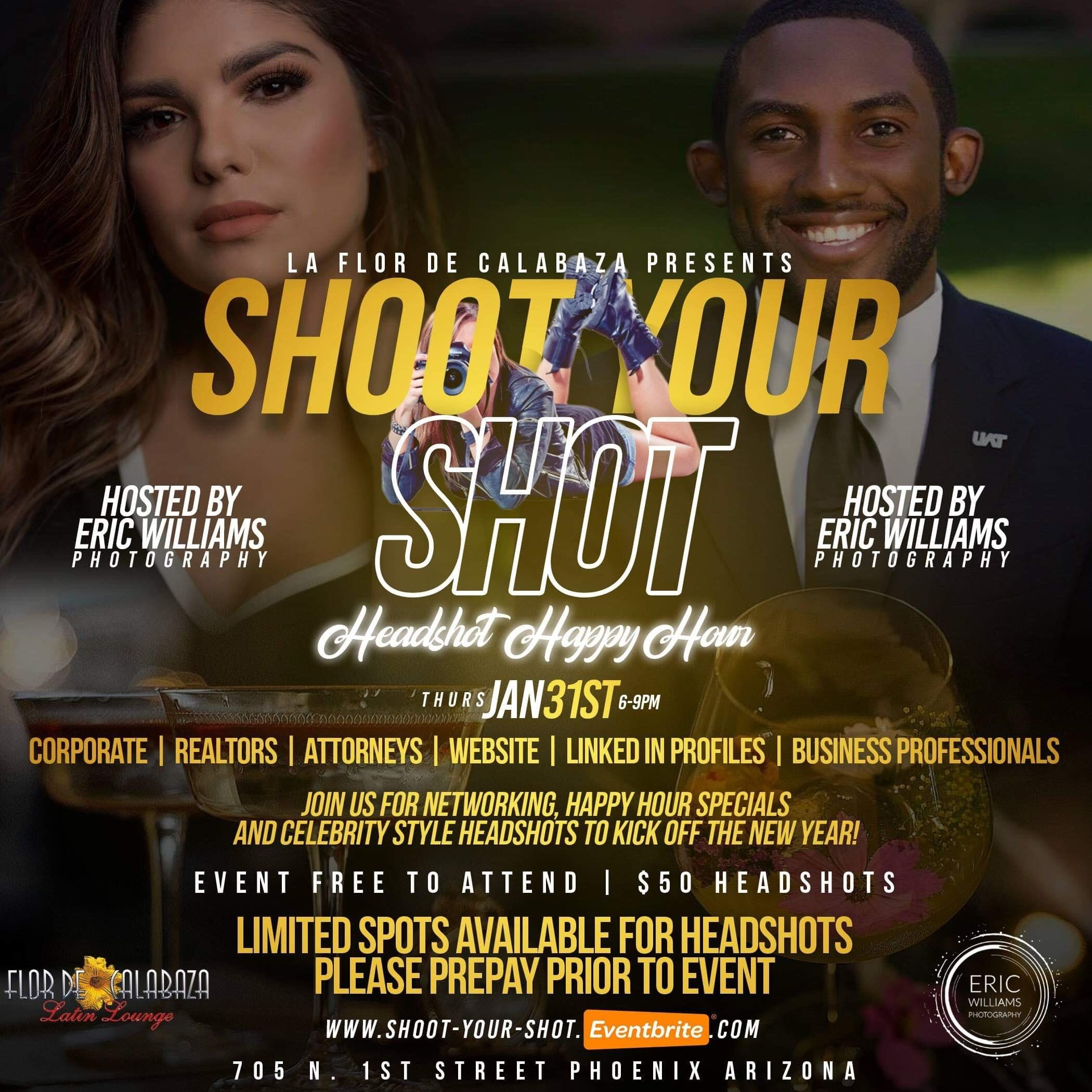 Shoot Your Shot: A Headshot Happy Hour Mixer