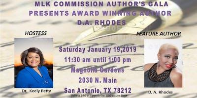 MLK Jr Commission Author's Gala Present Awarding Winning Author D.A. Rhodes