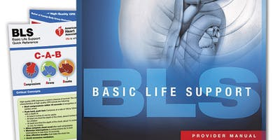 AHA BLS Renewal Course August 14, 2019 (The New 2015 Provider Manual is included!) from 2 PM to 4 PM at Saving American Hearts, Inc. 6165 Lehman Drive Suite 202 Colorado Springs, Colorado 80918.