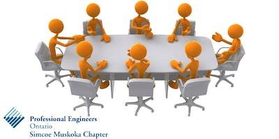 PEO Simcoe Muskoka Chapter Board Meeting - February 2019