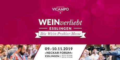 VICAMPO WEINverliebt Esslingen 09./10. November 2019 Tickets