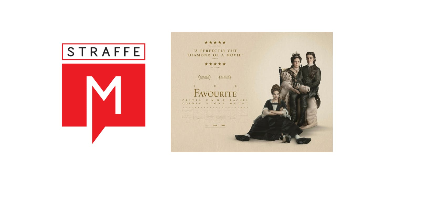 #StraffeM at the movies - The Favourite met E