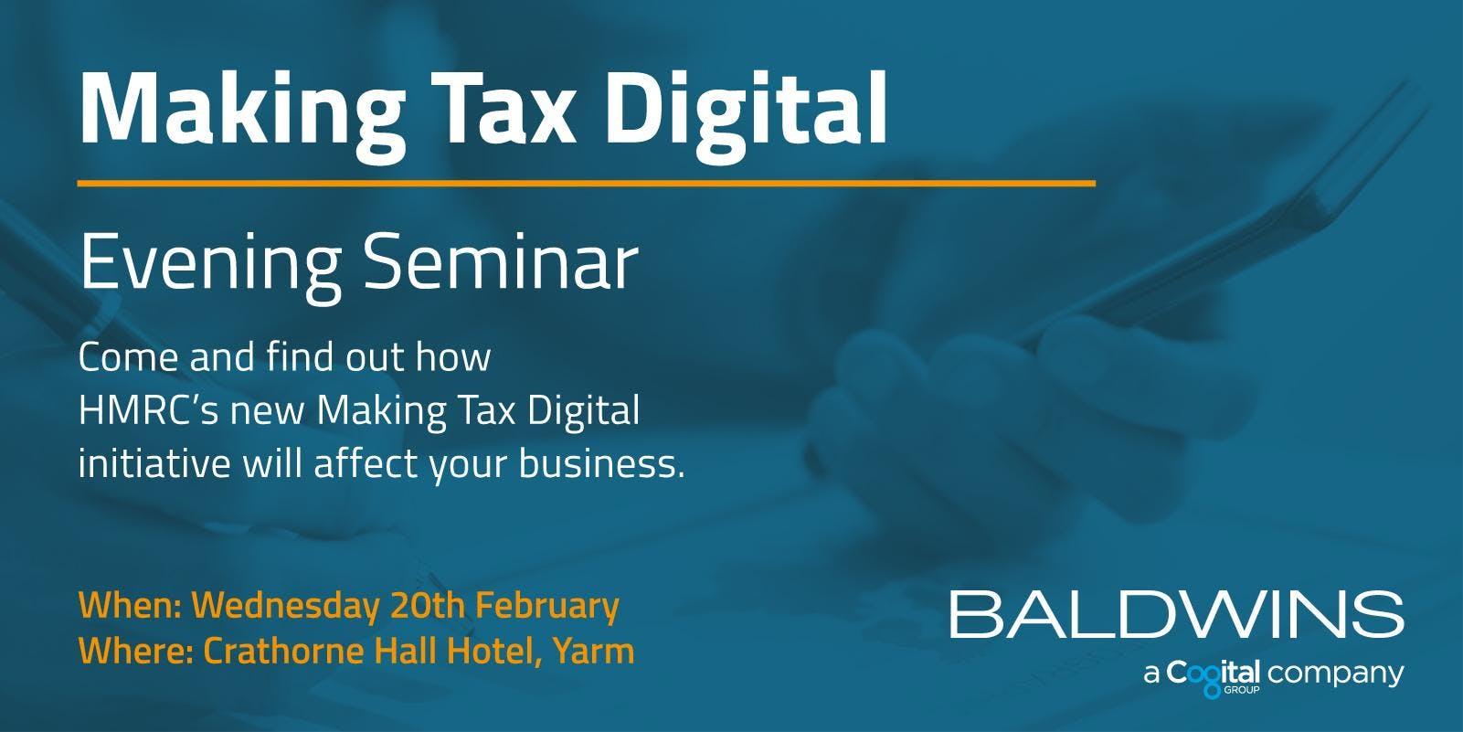 Making Tax Digital - Teesside Evening Seminar