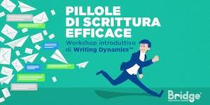 Pillole scrittura efficace - Workshop introduttivo di...