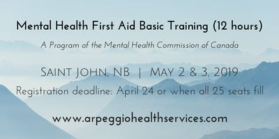 Mental Health First Aid Basic Training - Saint John, NB - May 2 & 3, 2019