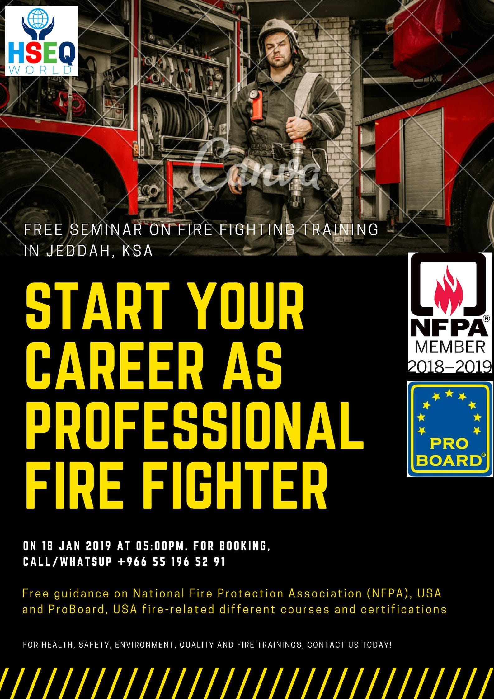 Free Seminar On International Fire Related Courses Certifications