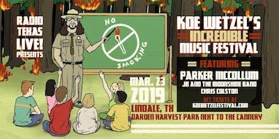 Koe Wetzel's Incredible Music Festival