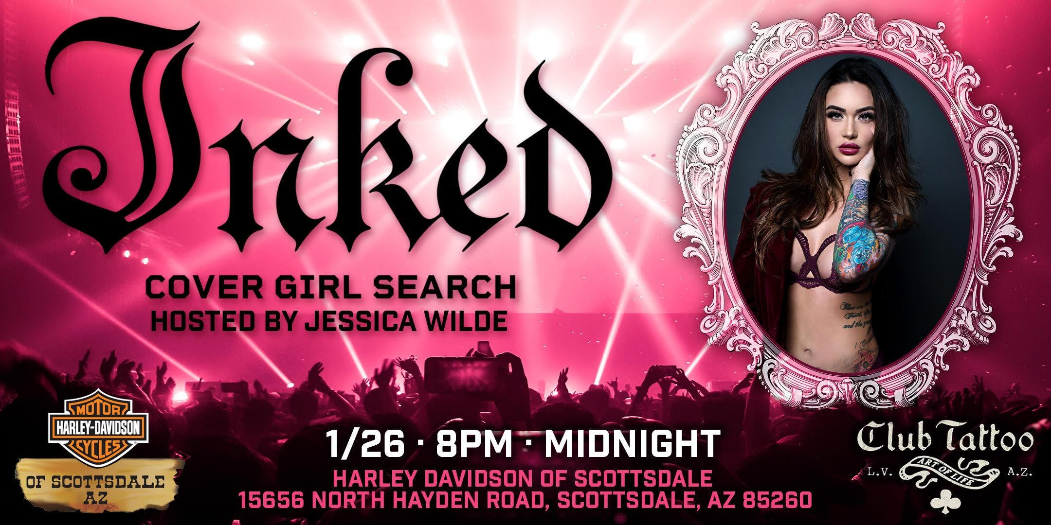 Inked Cover Girl Party