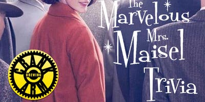 The Marvelous Mrs. Maisel Trivia at Crank Arm Brewing Company
