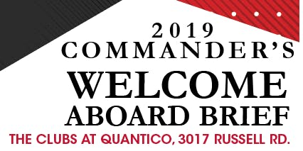 Commander's Welcome Aboard 2019 Dates