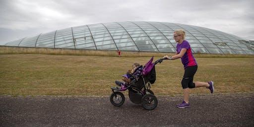 Botanic Buggy Running - Bygi Ffit yn yr Ardd