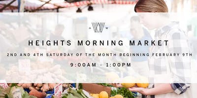 Heights Morning Market Vendor Application - 2019 Season