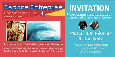 Invitation vernissage à Espace Entreprise Montpellier