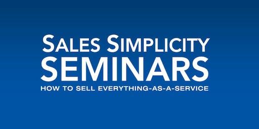 Sales Simplicity Seminar November 12-13, 2019