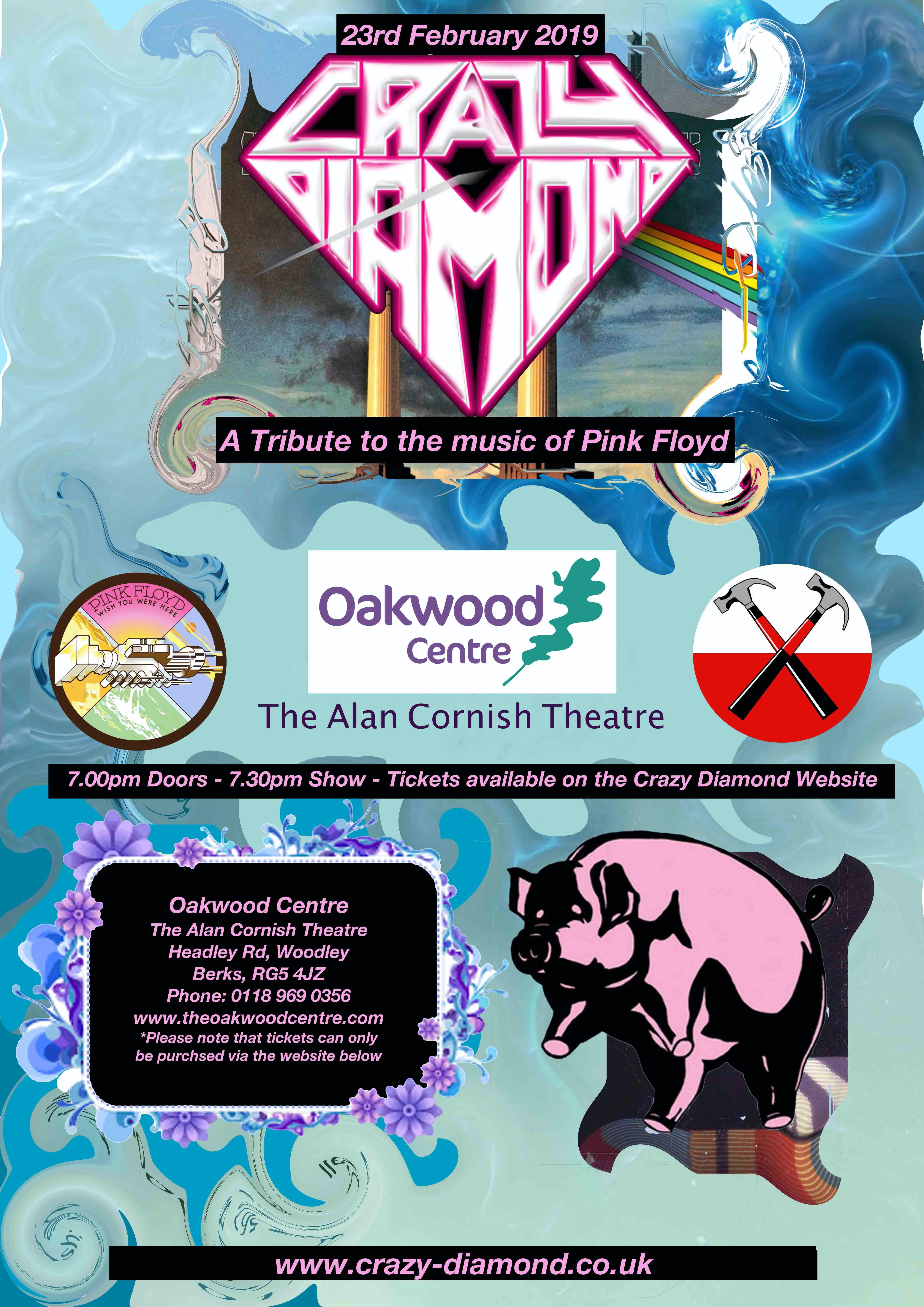 Crazy Diamond Live at 'The Oakwood Centre'