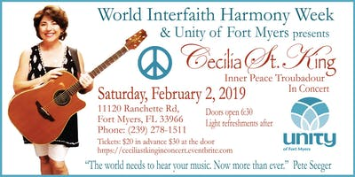 Cecilia St. King in Concert - World Interfaith Harmony Week