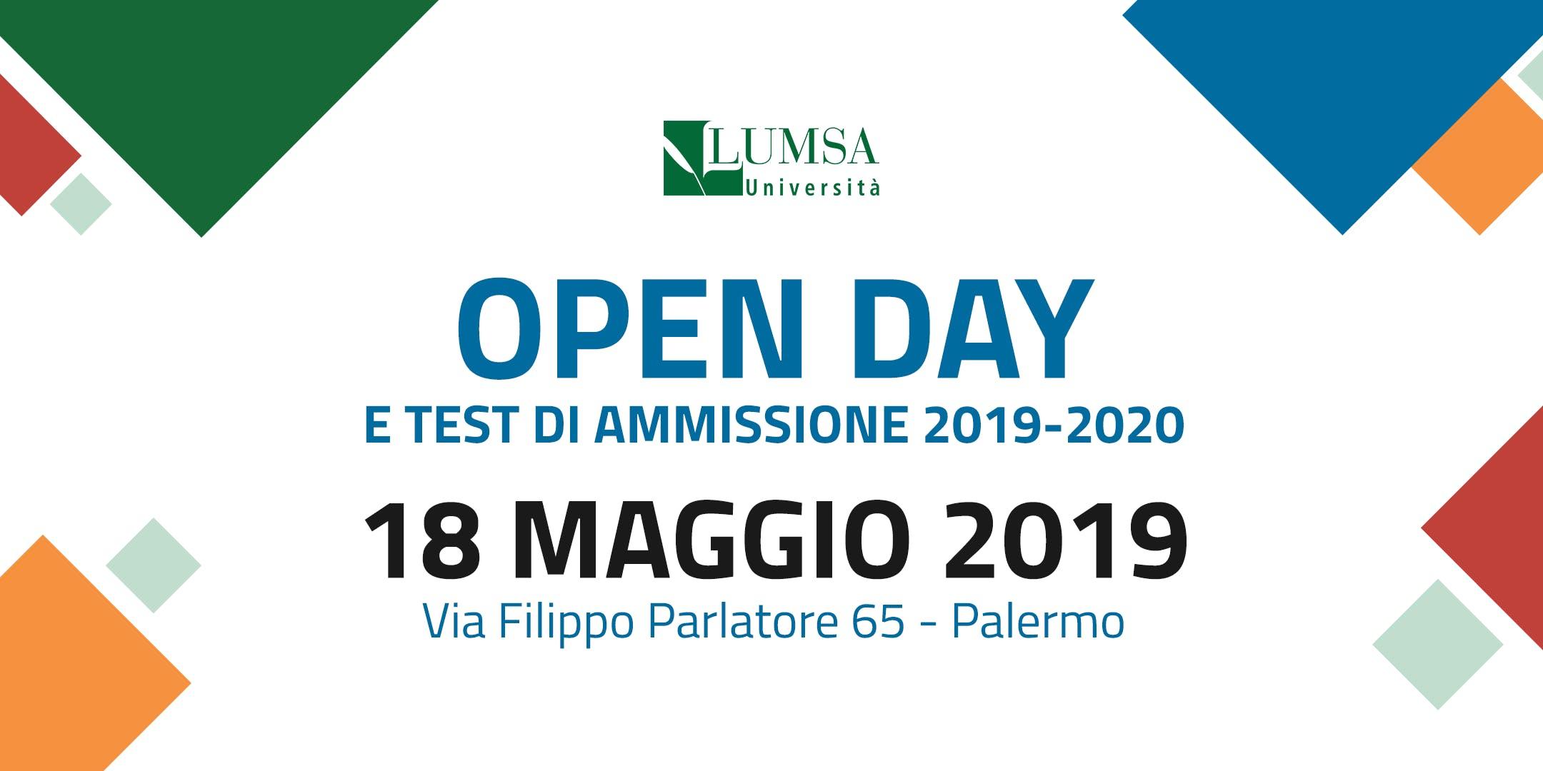 Open Day di Orientamento Universit Lumsa a Palermo e dintorni