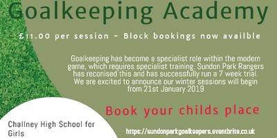 Sundon Park Rangers FC Goalkeeper Acadamy
