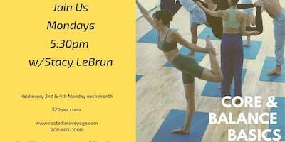 Core & Balance Basics Yoga Class