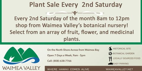Plant Sale at Waimea Valley tickets