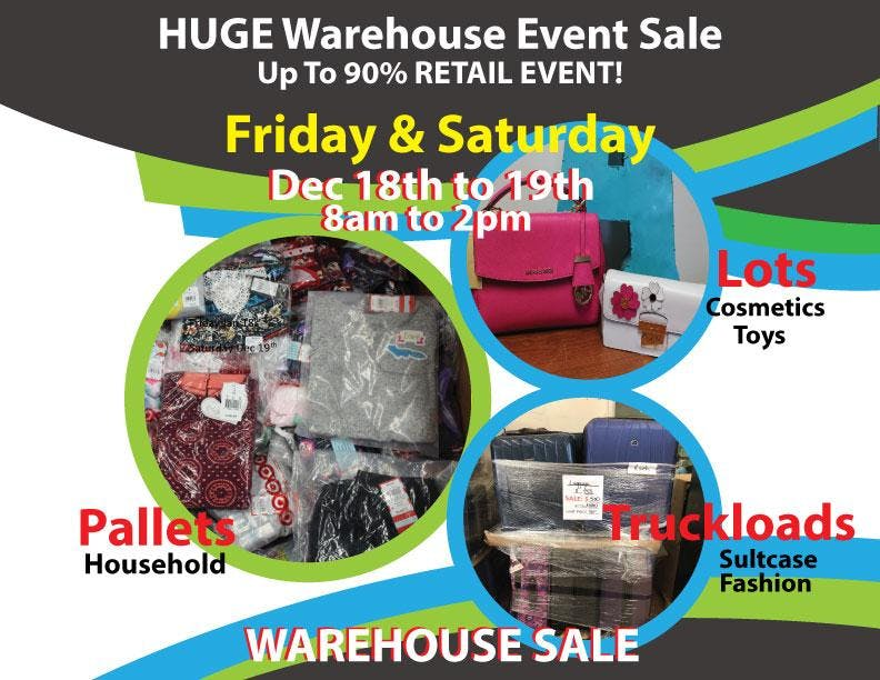 HUGE Warehouse Sale Event!  at up to 90% off