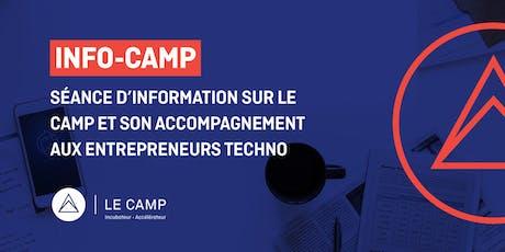 INFO CAMP - Séance d'information sur LE CAMP et son accompagnement billets