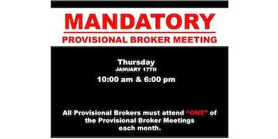 MANDATORY PROVISIONAL BROKER MEETING