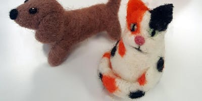 Needle Felted Cat & Dog with Claire Impens
