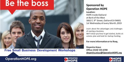 Free Small Business Development Workshop