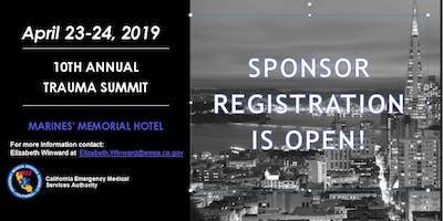 2019 State of California Trauma Summit Sponsors Registration