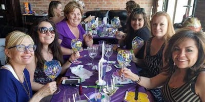 Wine Glass Painting Class at Food Plenty 3/26 @ 7pm - FLORAL FANCY