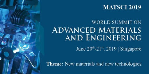 WORLD SUMMIT ON ADVANCED MATERIALS AND ENGINEERING