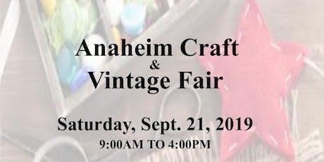Anaheim Craft & Vintage Fair  tickets