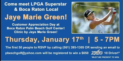Come Meet LPGA Superstar Jaye Marie Green!