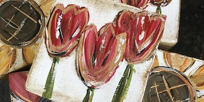 Painted Tulips with Redeemed Home Goods