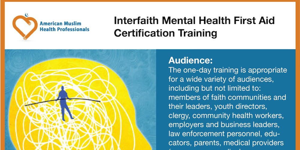 Interfaith Mental Health First Aid Certification Training Tickets