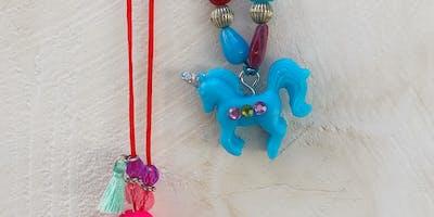 DIY unicorn necklaces for KIDS