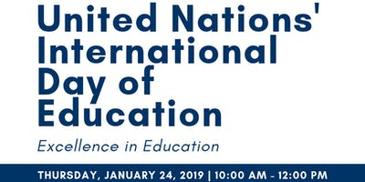 United Nations' International Day of Education - Excellence in Education