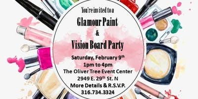 Glamour Paint and Vision Board Party