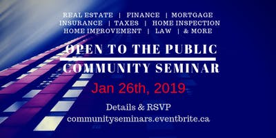 Community Seminar January 26th, 2019!