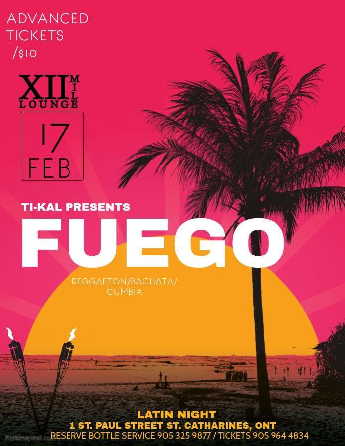 FUEGO: latin night @12 mile lounge