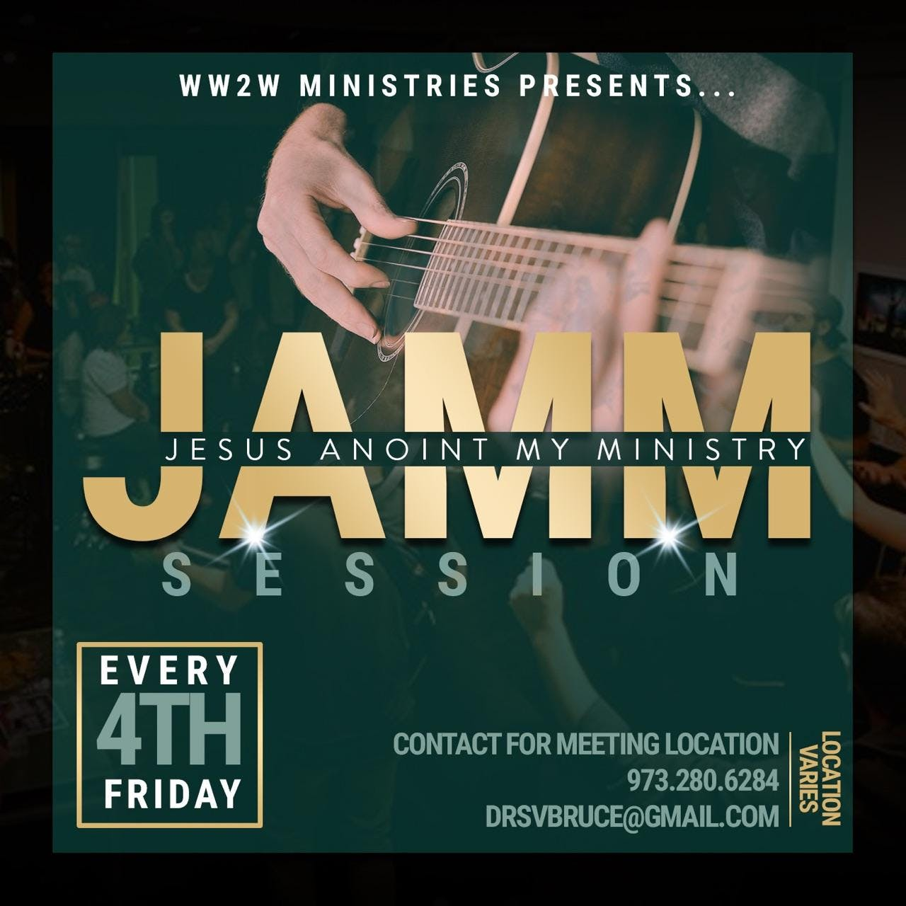 January J.A.M.M. Session - Jesus Anoint My Ministry!