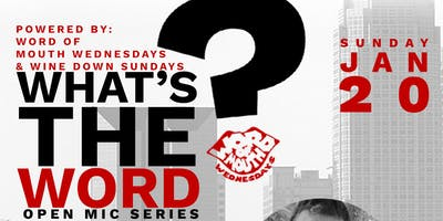 The What's the Word? #OpenMicSeries