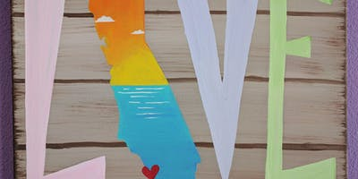 Wine and Canvas Class - California Love