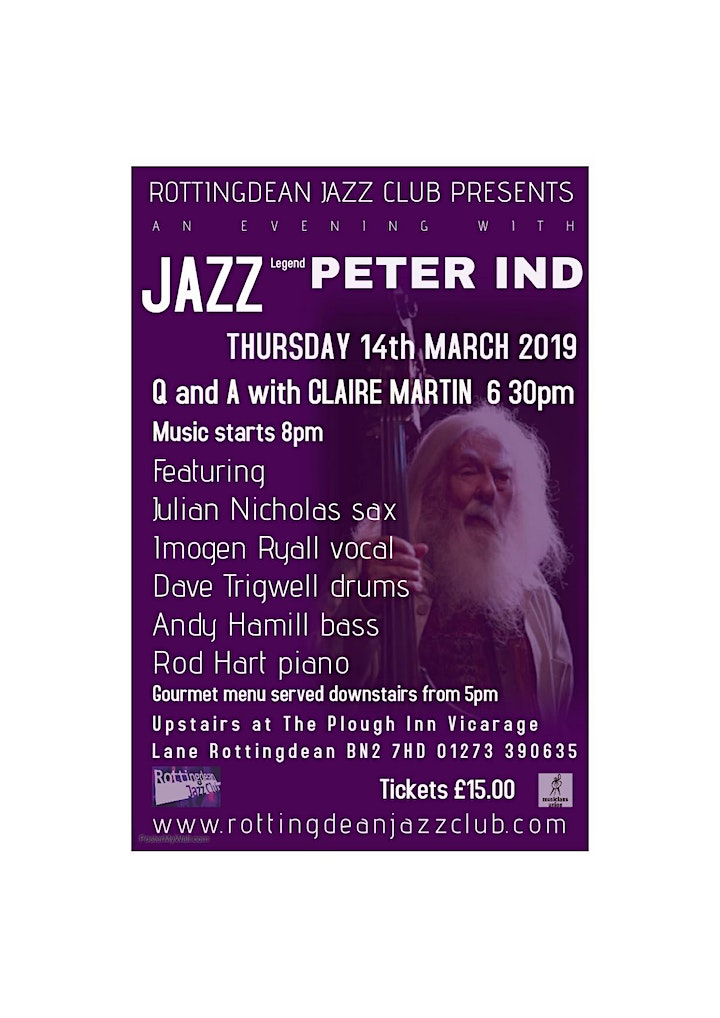 An Evening With Peter Ind at Rottingdean Jazz Club image