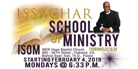 ISSACHAR School of Ministry tickets